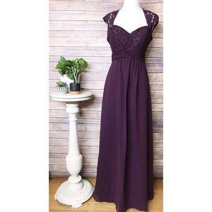Christina Wu Lace/Chiffon Bridesmaid Dress